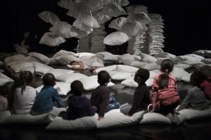 Repetition du spectacle de Claire Ruffin 1000 chemins d'oreillers au Théâtre du Merlan à Marseille fin mars 2018