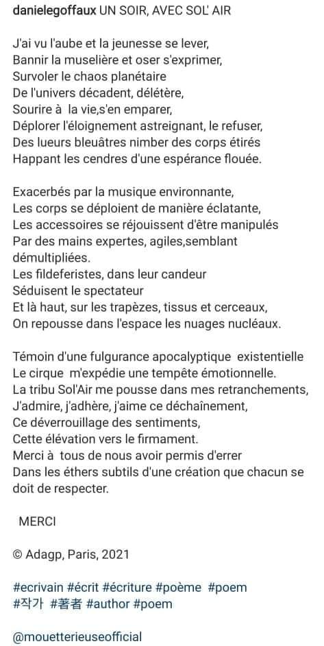 Poème Danièle Goffaux